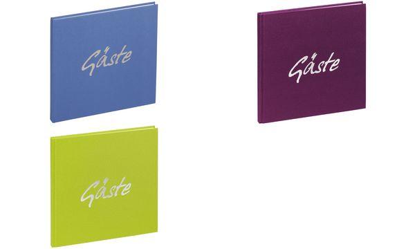 PAGNA Gästebuch Trend, violett, 180 Seiten