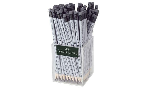 FABER-CASTELL Bleistift GRIP 2001 mit Radierer, im Köcher