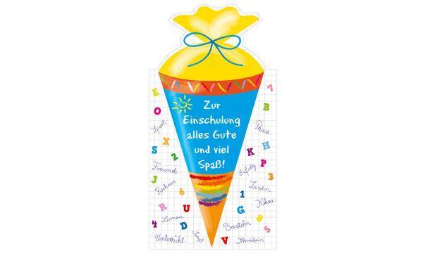 SUSY CARD Schulanfangs-Grußkarte Große Schultüte