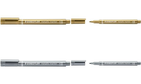 STAEDTLER Permanent-Marker Metallic, Rundspitze, silber
