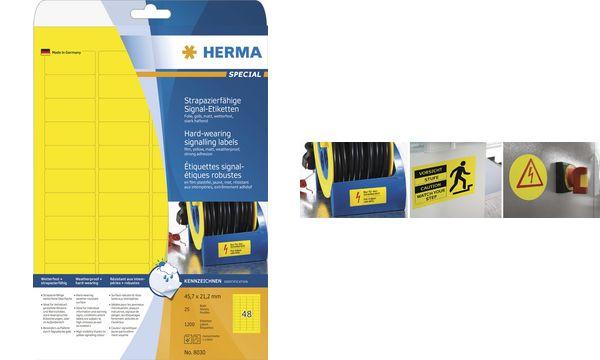 HERMA Signal-Etiketten SPECIAL, Durchmesser: 30 mm, gelb