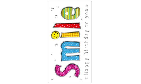SUSY CARD Geburtstagskarte Smile
