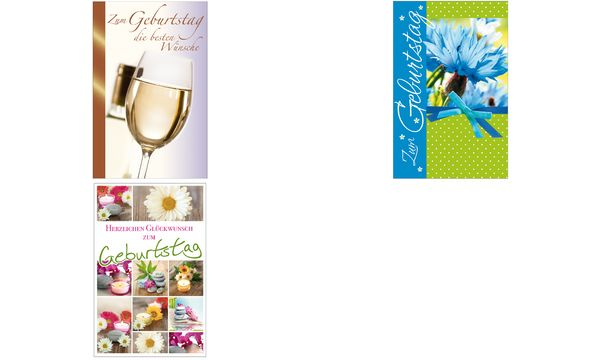 SUSY CARD Geburtstagskarte Kornblume