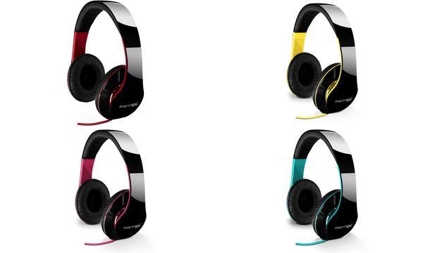 fantec Kopfhörer On-Ear SHP-250AJ, schwarz/türkis