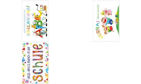SUSY CARD Schulanfangs-Grußkarte Bunte Schule