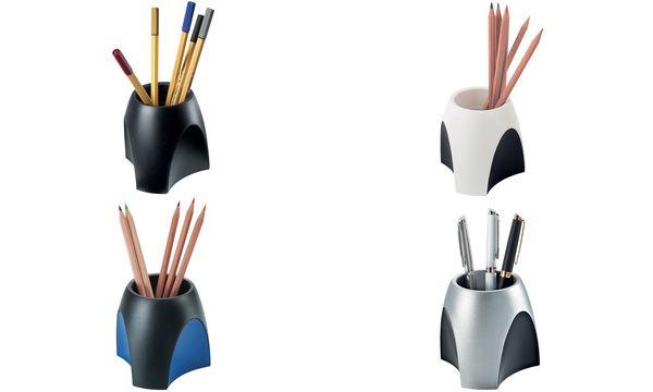 HAN Stifteköcher DELTA, Kunststoff, schwarz/blau