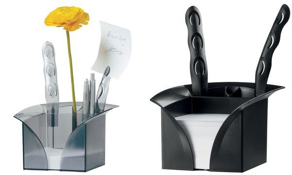 HAN Zettelbox LOTUS, Kunststoff, schwarz
