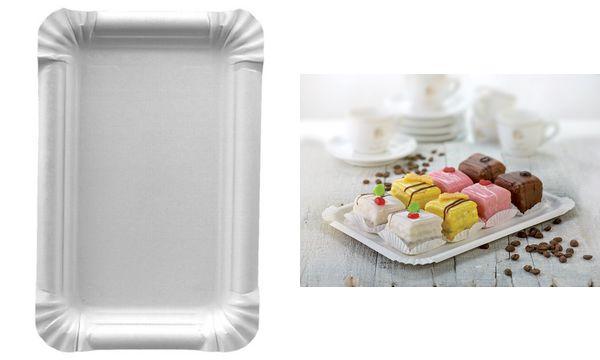 PAPSTAR Papp-Teller pure eckig, 165 x 230 mm, weiß, 250er