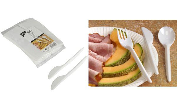 PAPSTAR Kunststoff-Messer, Länge: 175 mm, weiß, 50er