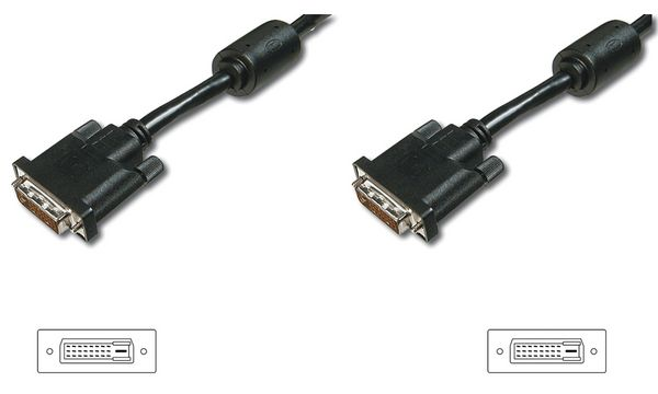 DIGITUS DVI-D 18+1 Kabel, Premium, Single Link, 2,0 m