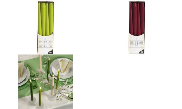 PAPSTAR Leuchterkerzen, 22 mm, bordeaux, 4er Pack