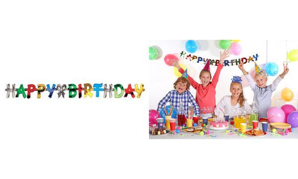 PAPSTAR Girlanden-Kette Happy Birthday