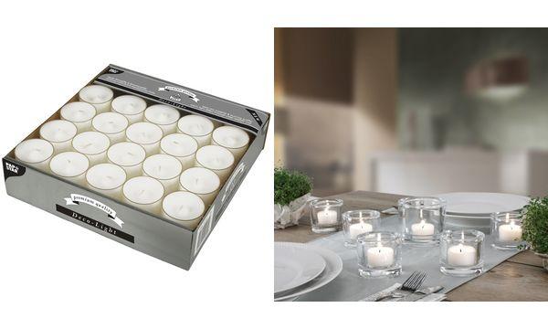 PAPSTAR Teelichter Deco Lights, Durchmesser: 39 mm, weiß
