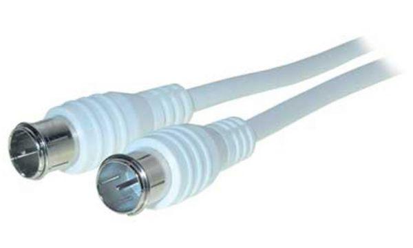 shiverpeaks BASIC-S Antennenkabel, 5,0 m, weiß