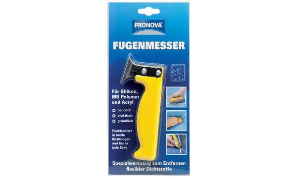 PRONOVA Fugenmesser für Silikon und Acryl, gelb