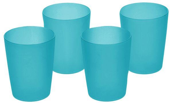 keeeper Trinkbecher alessandro, 0,25 Liter, 4er Set, blau