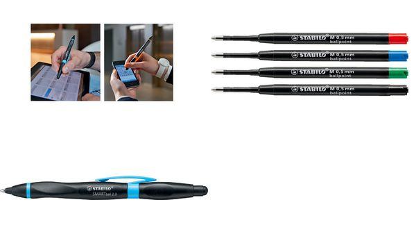 STABILO Eingabestift SMARTball 2.0, für Rechtshänder, blau