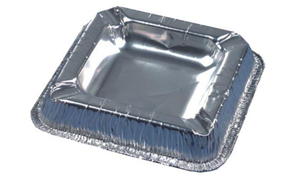 PAPSTAR Aluminium-Aschenbecher, quadratisch, 10er