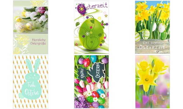 SUSY CARD Oster-Grußkarte Osterglocke