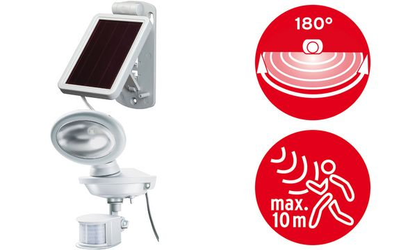 brennenstuhl Solar LED-Außenleuchte SOL 14 plus IP 44, weiß