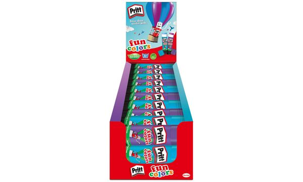 Pritt Klebestift fun colors, blau & lila, 30er Display