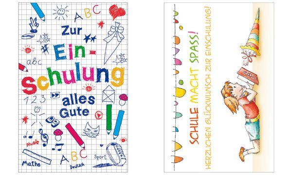 SUSY CARD Schulanfangs-Grußkarte Mädchen/Buch