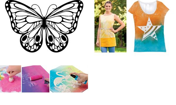 Marabu Silhouetten-Motivschablone Romantic Butterfly