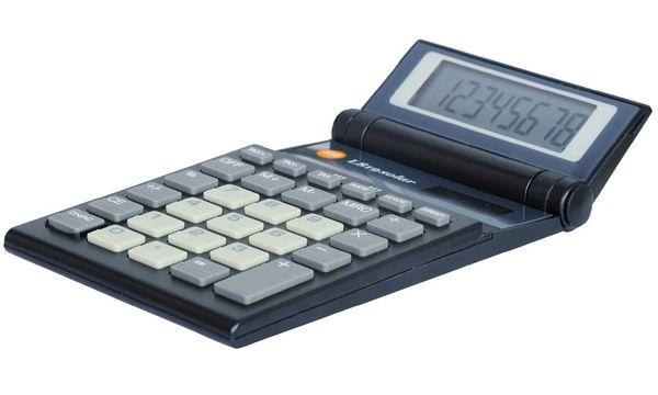 TRIUMPH-ADLER Taschenrechner L-819 solar, schwarz