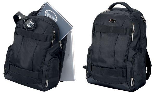 LiGHTPAK Schulrucksack HAWK, mit Notebookfach, schwarz