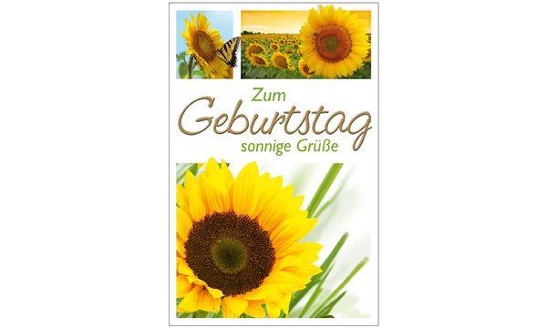 SUSY CARD Geburtstagskarte Sonnenblumen