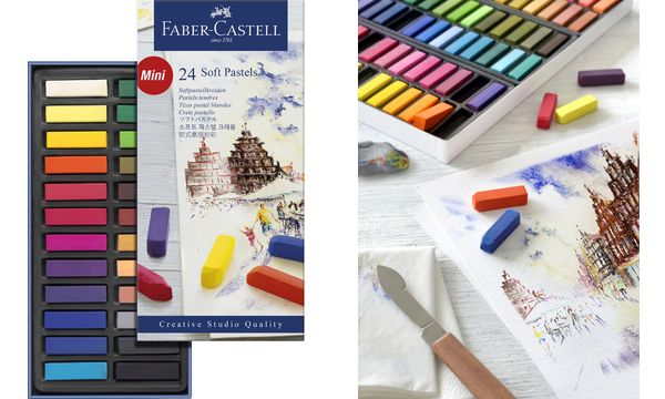 FABER-CASTELL Softpastellkreiden CREATIVE STUDIO, 48er Etui
