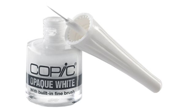 COPIC Opaque White, Flacon inkl. Pinsel, Inhalt: 7 ml