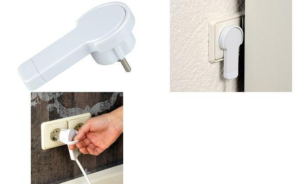 uniTEC Flach-Schutzkontakt-Stecker, Farbe: weiß