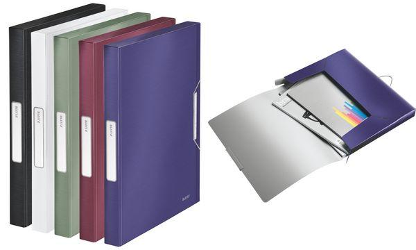 LEITZ Ablagebox Style, DIN A4, PP, granat-rot