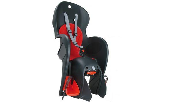 Polisport Fahrrad-Kindersitz Walleroo, grau / rot