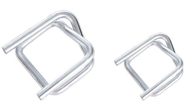 dm-folien Umreifungsschnalle, aus Metall, verzinkt, (B)1...