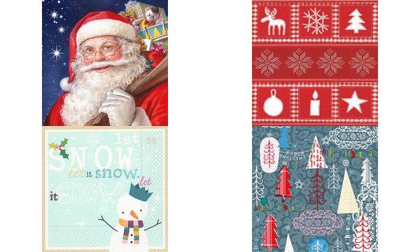 SUSY CARD Weihnachts-Motivservietten Graphic fun