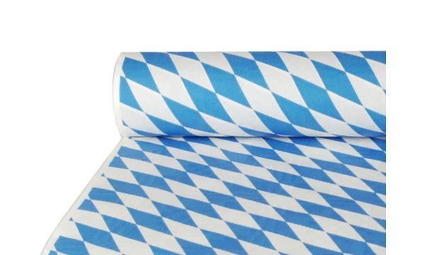 PAPSTAR Damast-Tischtuch Bayrisch Blau, (B)1,0 x (L)50 m
