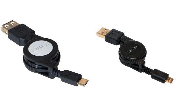 LogiLink Micro USB OTG Anschlusskabel, Stecker - Kupplung