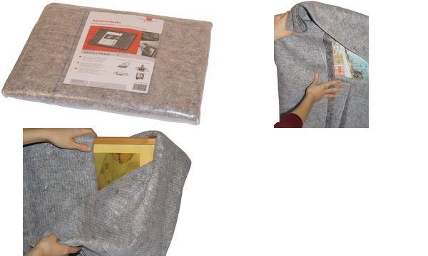smartboxpro Allzweckdecke, 1,3 x 2 m, anthrazit