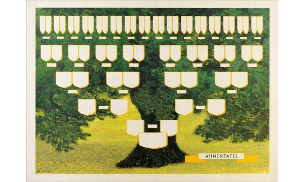 RNK Verlag Schmuck-Ahnentafel Grüner Baum, 70 x 50 cm