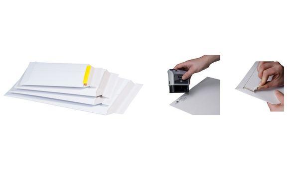 #25xsmartboxpro Versandtasche, aus weißer Vollpappe, DIN A5