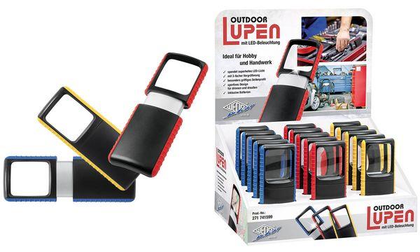#15xWEDO Outdoor-Rechtecklupe mit LED-Beleuchtung, 15er ...