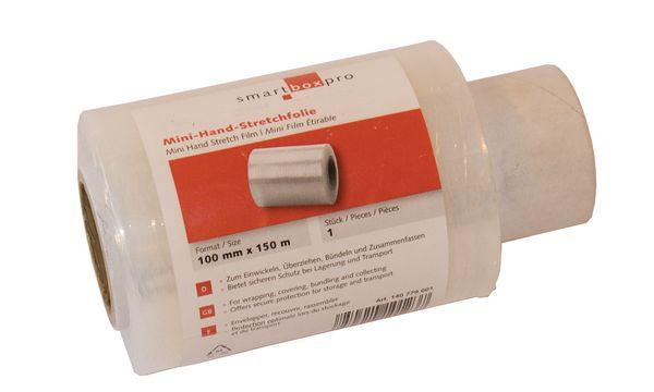 smartboxpro Stretchfolie, (B)100 mm x (L)150m, Stärke: 1...
