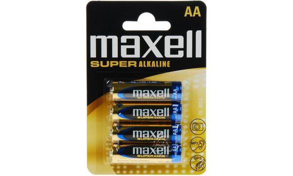 maxell Alkaline Batterie SUPER, Mignon AA, 4er Blister