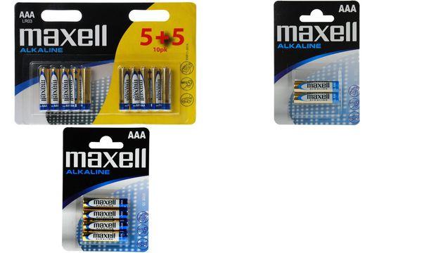 maxell Alkaline Batterie, Micro AAA, 2er Blister