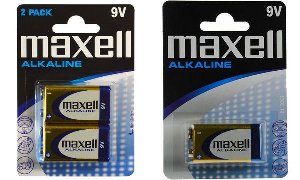 maxell Alkaline Batterie, 9V E-Block
