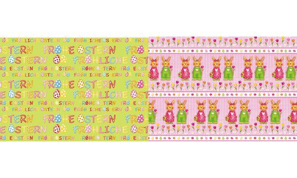 SUSY CARD Oster-Geschenkpapier Frohe Ostern, auf Rolle