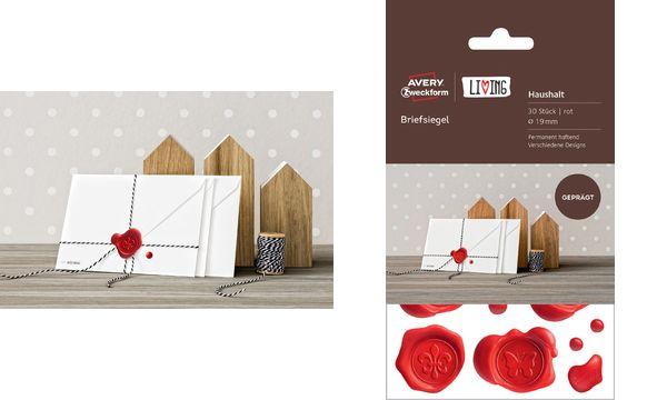 AVERY Zweckform LIVING Briefsiegel, Durchmesser: 19 mm, rot