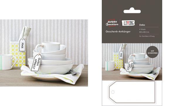 AVERY Zweckform LIVING Geschenk-Anhänger, 80 x 40 mm